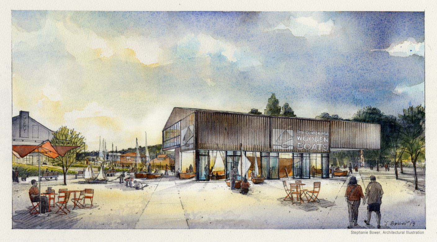 Join AIA Seattle's Young Architects Forum on a tour of the new Center for Wooden Boats workshop.