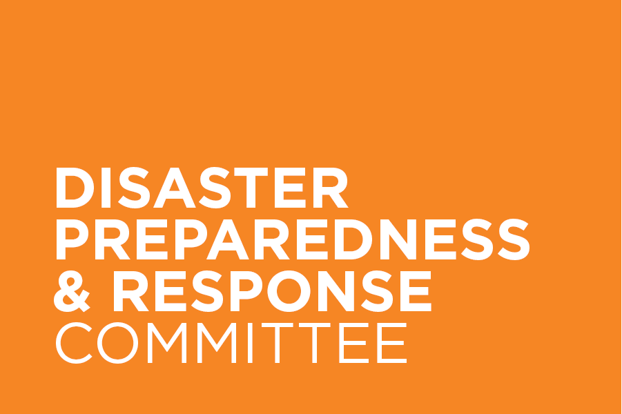 The Disaster Preparedness & Response Committee informs and coordinates design professionals' action in preparing for and responding to disaster conditions.