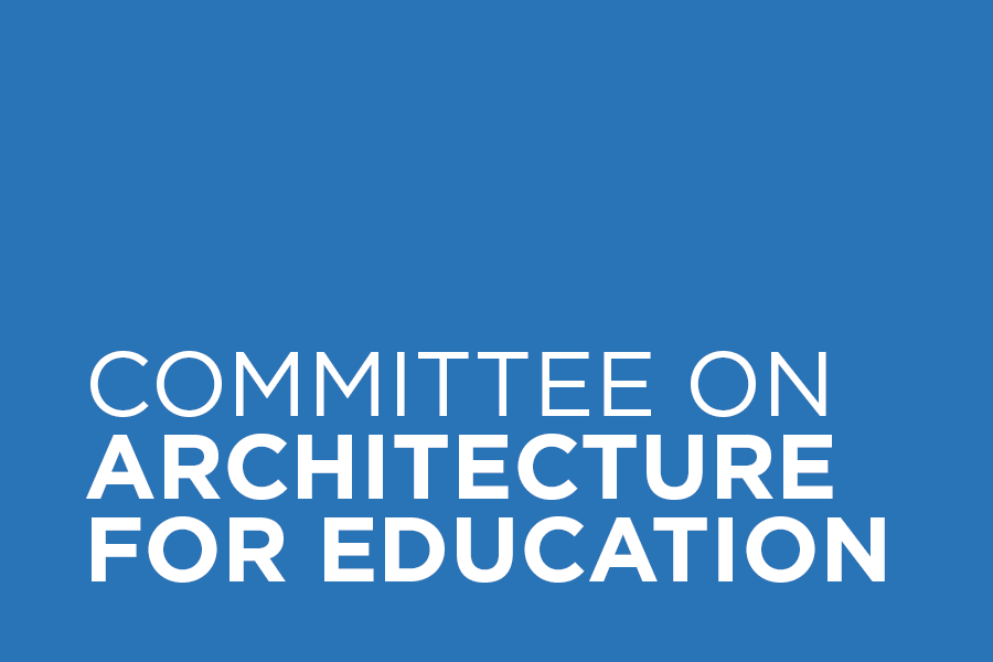 Committee on Architecture for Education (CAE) develops a knowledge sharing network of individuals that impact planning and design of early learning, K-12, higher education, and other learning environments and shares innovative ideas, trends and best practices in education through local events, programs and tours that strengthen relationships between architects, allied organizations, client groups and the public at large.