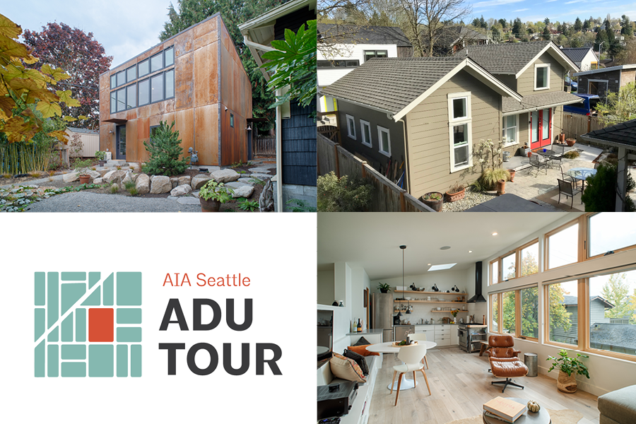 AIA Seattle's Housing Task Force presents a tour of built DADUs and AADUs in Seattle: June 15, 2019, 11am - 4pm.