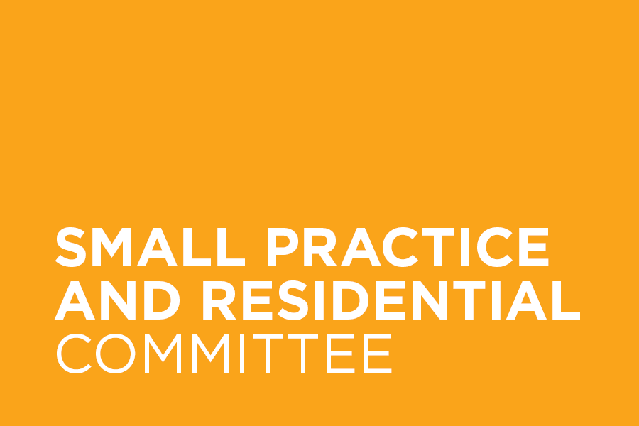 The Small Practice And Residential Committee supports professional & business development, leadership and growth for the many members of small practices and those practices engaged primarily in the execution of residential commissions. We represent this group of professionals within the AIA and the community – working to support professional development, elevate awareness of their work and to celebrate their contribution to the built environment.