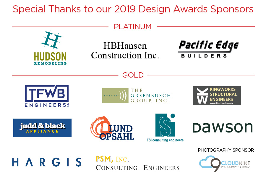 AIA NWW 2019 Design Awards sponsor list