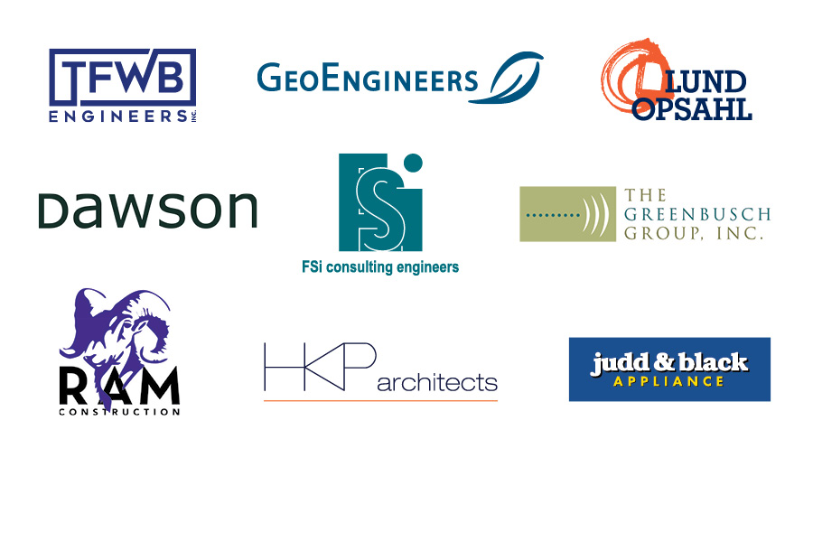 Special thanks to our 2020 Design Awards sponsors - TFWB Engineers, GeoEngineers, Lund Opsahl, Dawson, FSi Consulting Engineers, The Greenbusch Group Inc., Ram Construction, HKP Architects, Judd & Black Appliance