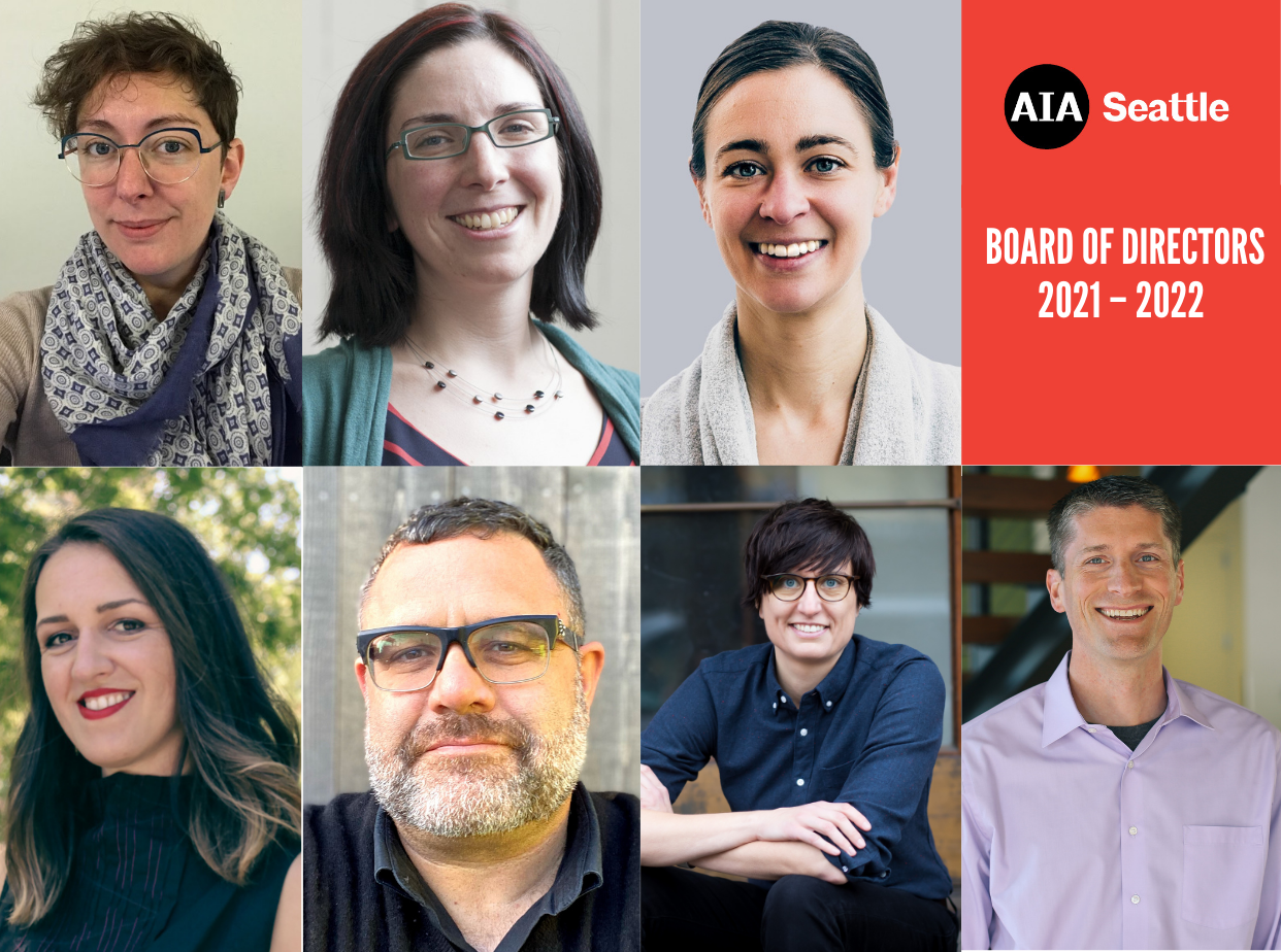 AIA Seattle is a member-led organization that depends on volunteer leadership and initiative.We are deeply grateful for the enormous energy and effort our board members and other volunteer leaders devote to our organization.