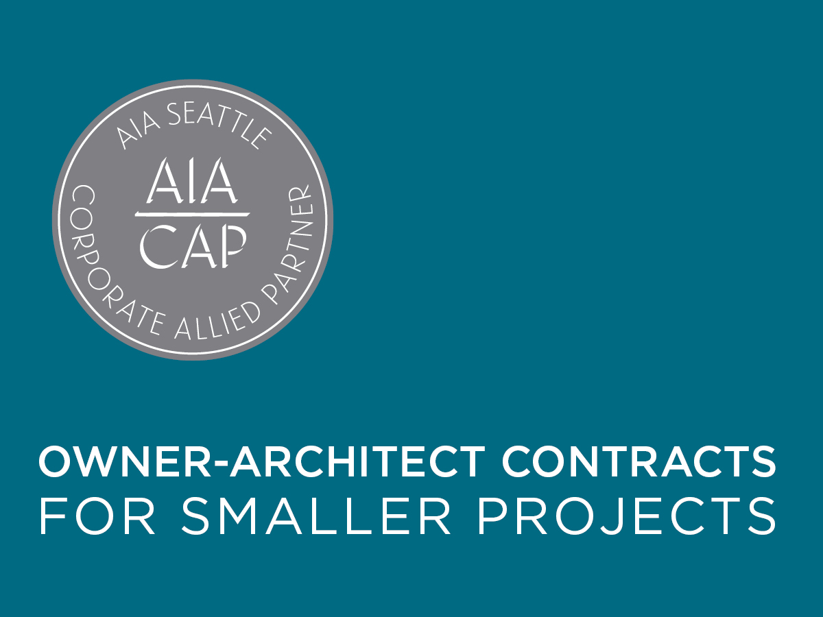 Owner-Architect Contracts for Smaller Projects