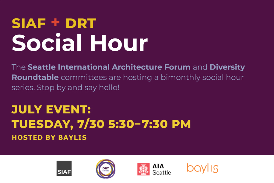 Please join us for an opportunity to engage in discussions of diverse ideas in architecture and connect with a community of architects from many different backgrounds.