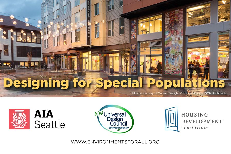 Environmental Works Community Design Center and SMR Architects, both leaders in designing multifamily housing, will team up to present on the opportunities and challenges of designing for special populations.