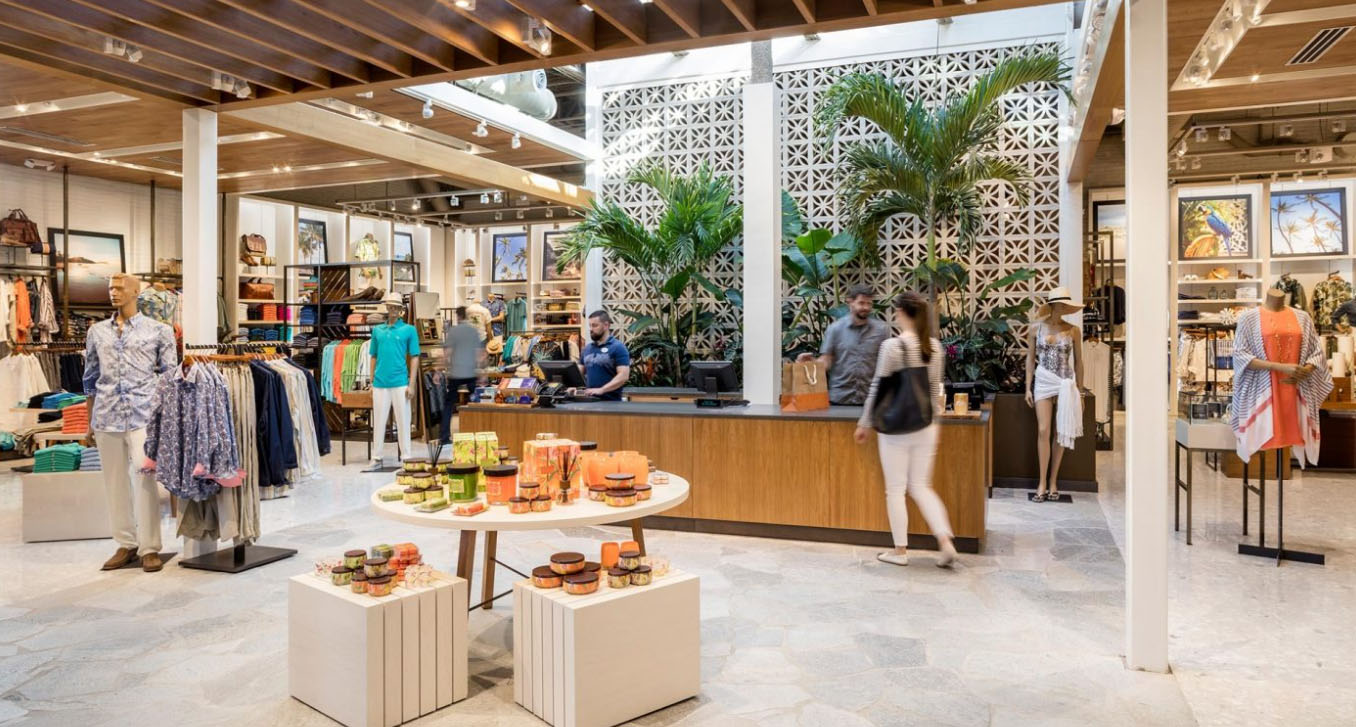 Tommy Bahamas retail space designed by MG2 Architects