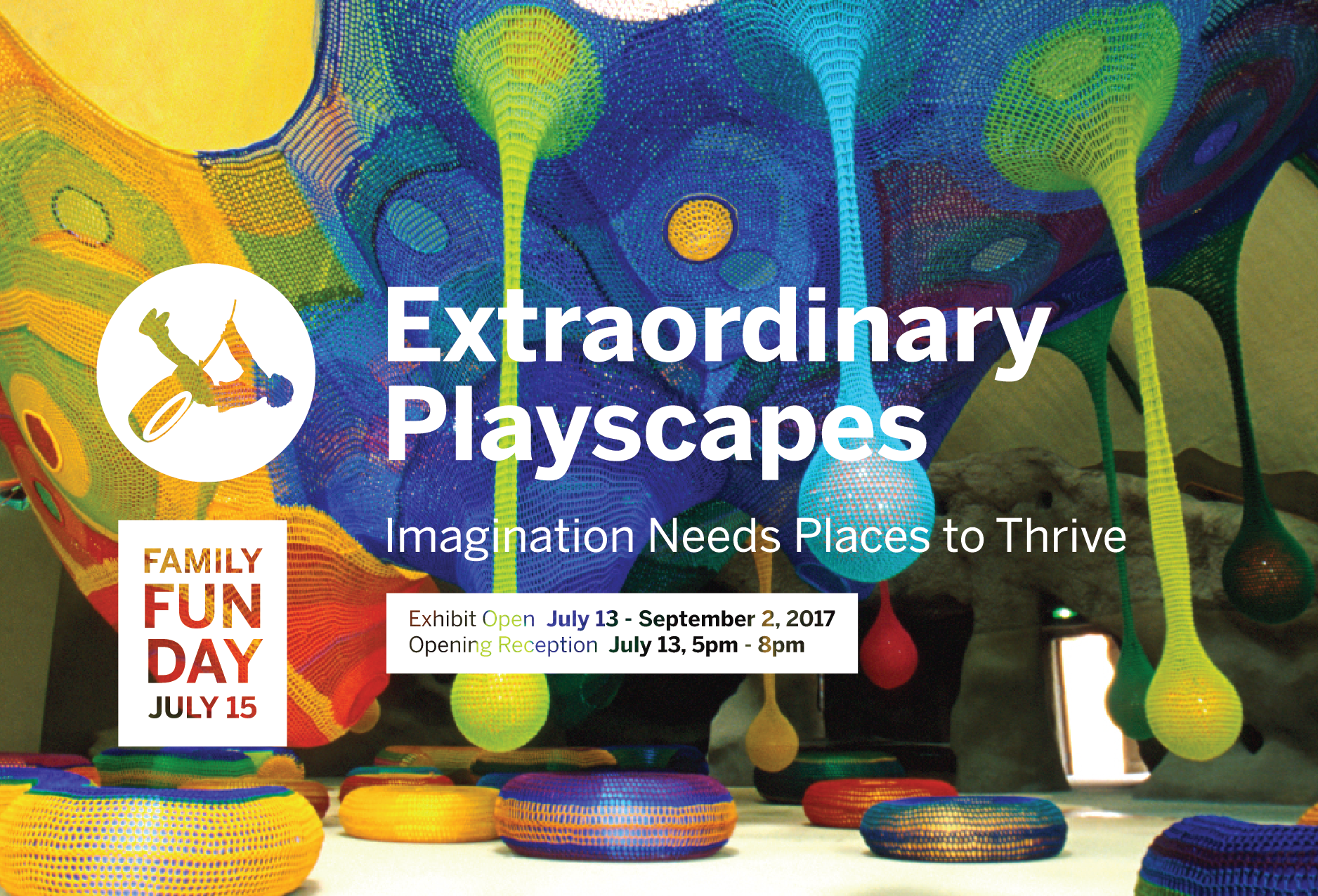 In conjunction with our Exhibit Extraordinary Playscapes we are inviting families to join us in a day of creative play at the Center for Architecture & Design on July 15th from 11-4pm.