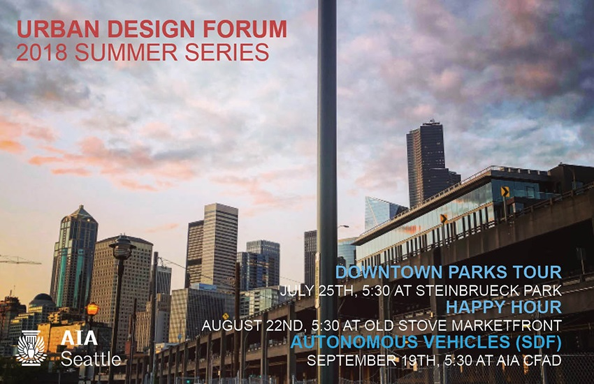 Come join Seattle Parks and Urban Design Forum on a sunny walk through Belltown and Denny Triangle to explore the past, present and future of this rapidly-developing area's urban parks.
