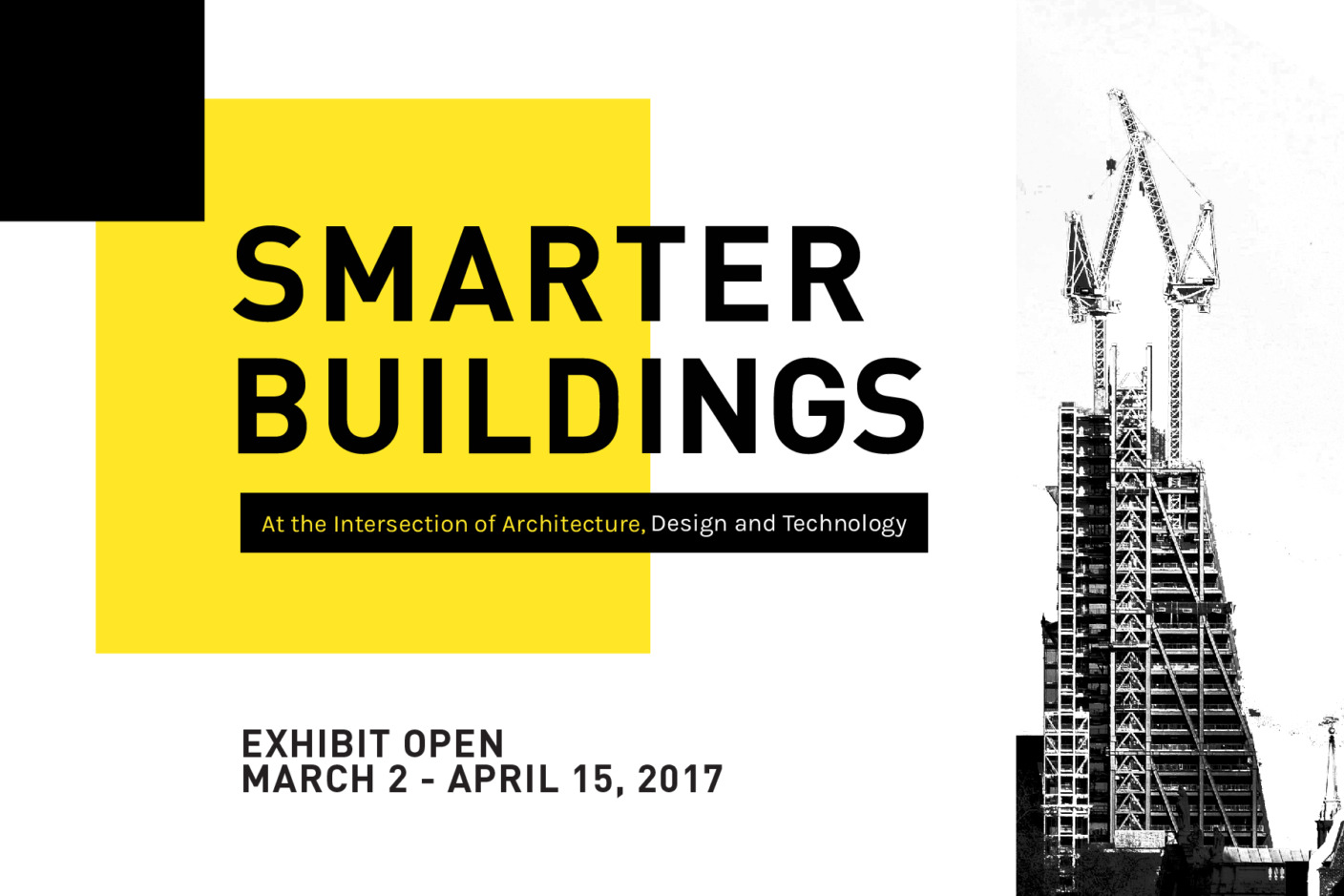 Smarter buildingsuse a new generation of tools that leverage today's data-rich environments to help create more capable, sustainablestructures. The exhibit investigates a range of cutting-edge technologies in building science, from environmental controls and waste water systems to unique user interfaces and advanced construction methods.
