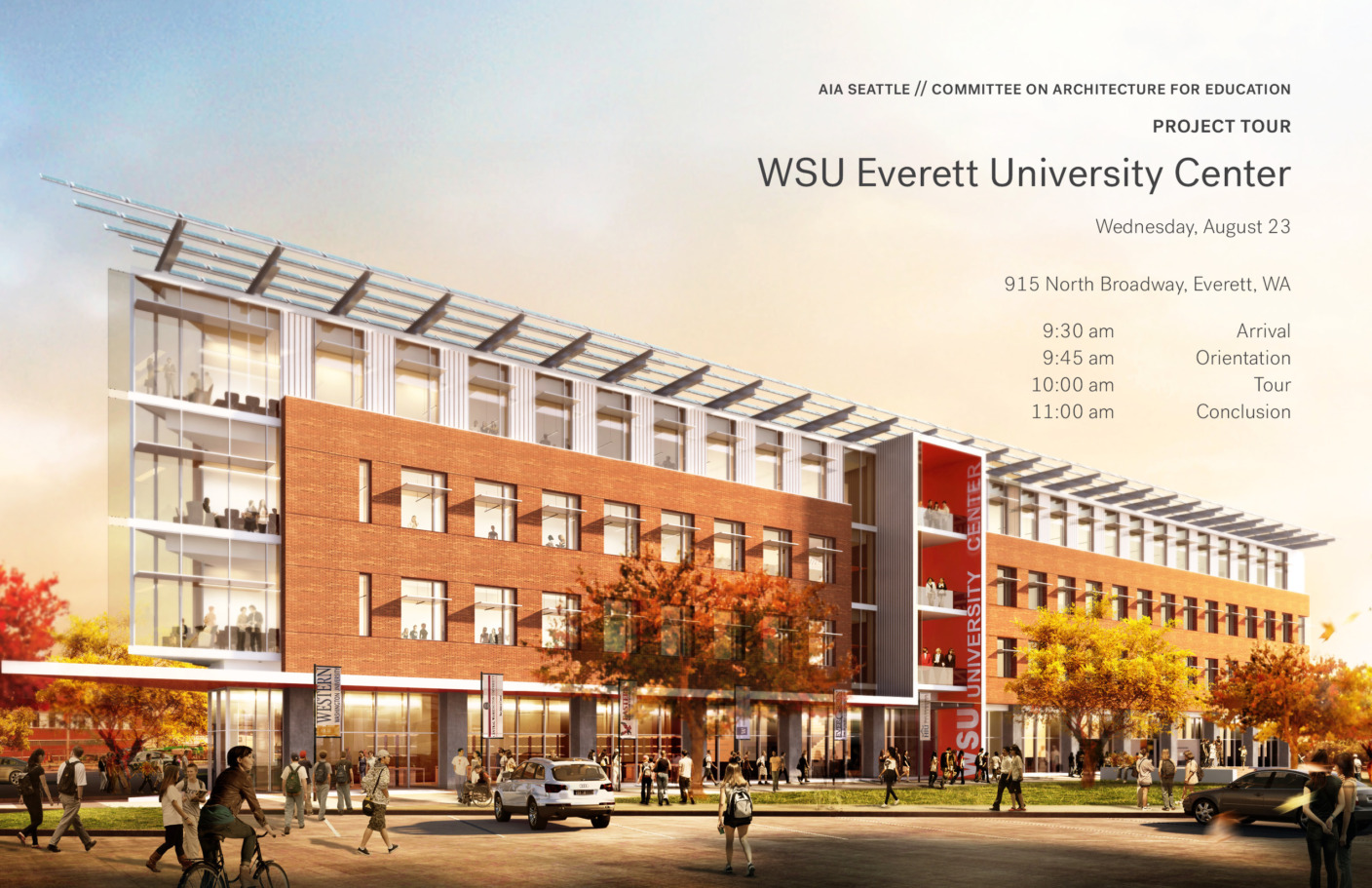 Join AIA Seattle Committee on Architecture for Education for a tour of WSU's new University Center in Everett!