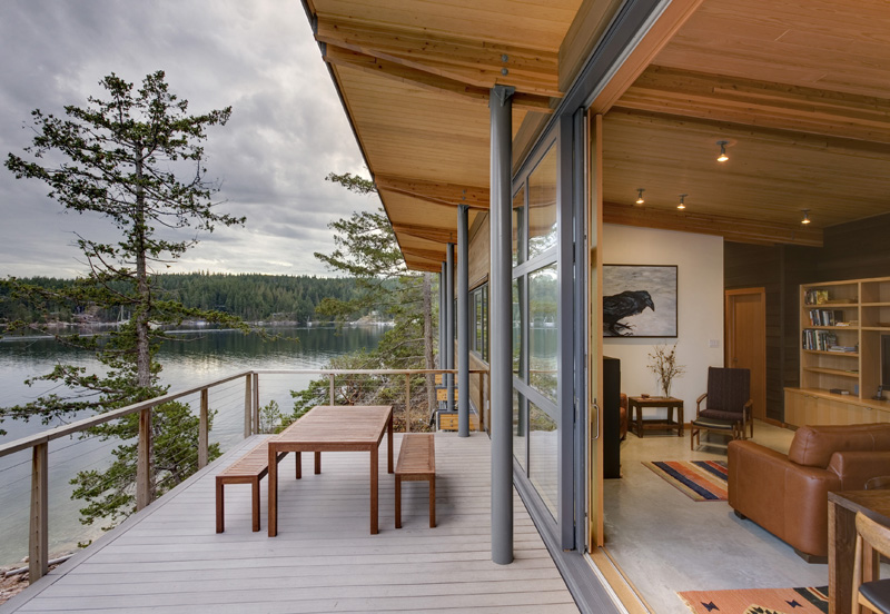 perched home on rock outcropping